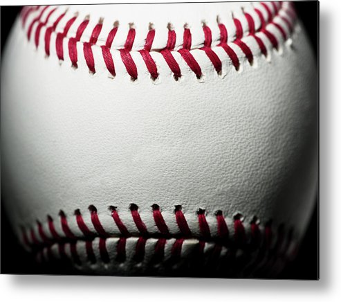 Ball Metal Print featuring the photograph Baseball by Pgiam