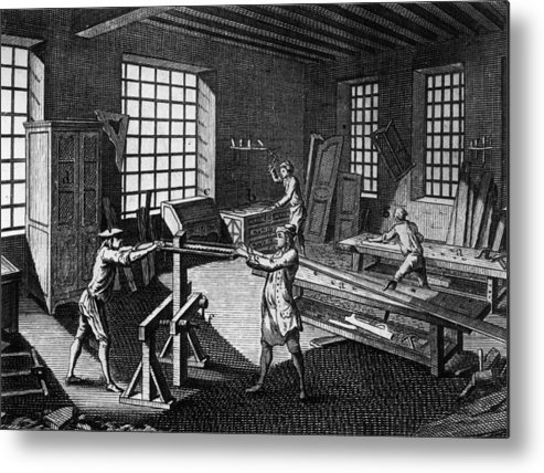 Drawer Metal Print featuring the photograph Cabinet Makers by Hulton Archive
