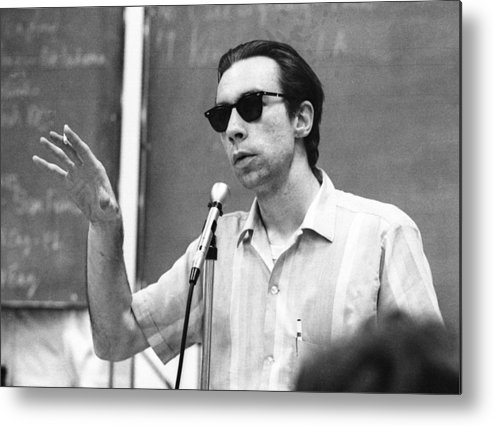 Michigan Metal Print featuring the photograph Carl Oglesby Speech In Michigan by Tom Copi