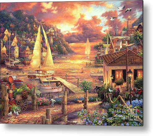 Imaginative Art Metal Print featuring the painting Catching Dreams by Chuck Pinson