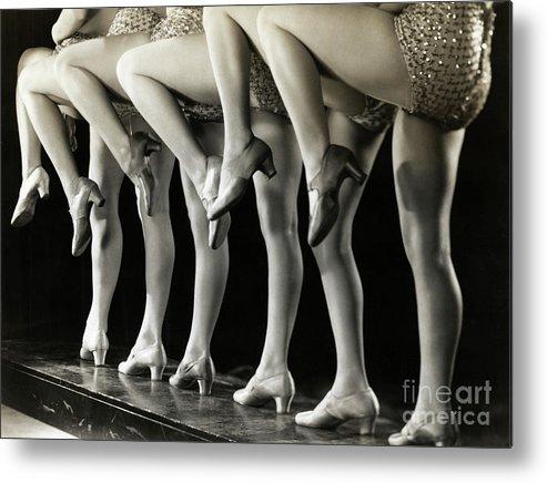 People Metal Print featuring the photograph Chorus Girls Legs by Bettmann