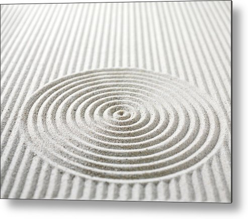 In A Row Metal Print featuring the photograph Circles And Lines In Sand by Wragg