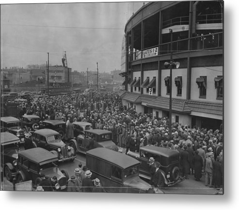 Crowd Metal Print featuring the photograph Crowd At Wrigley During World Series by Chicago History Museum