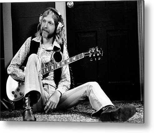 People Metal Print featuring the photograph Duane Allman At Muscle Shoals by Michael Ochs Archives