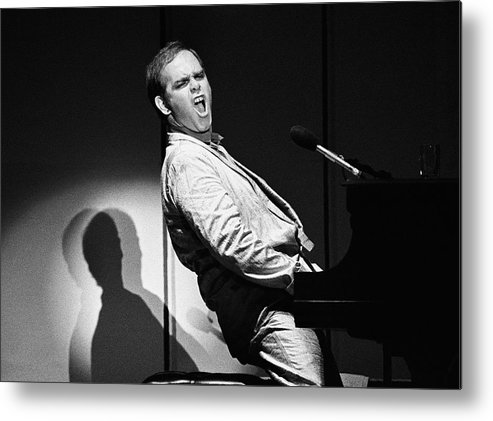 Rock Music Metal Print featuring the photograph Elton John In Concert by George Rose