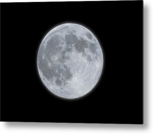 Sky Metal Print featuring the photograph Full Moon With Glow by Banksphotos