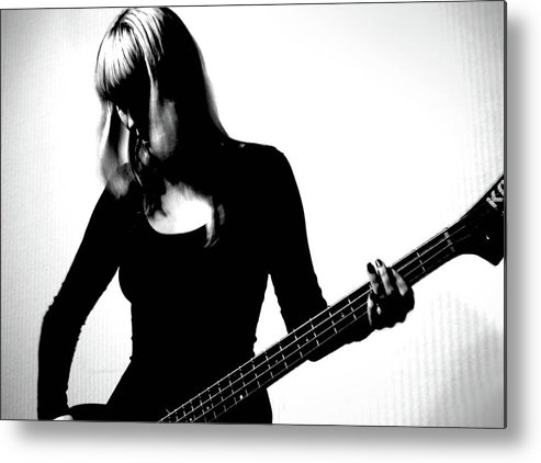 People Metal Print featuring the photograph Guitar Player by Yulia.m