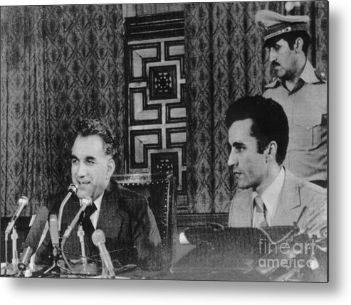 Mature Adult Metal Print featuring the photograph Hafizullah Amin Giving Press Conference by Bettmann