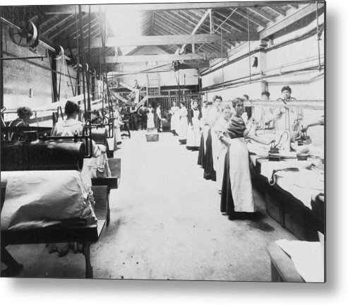 1910-1919 Metal Print featuring the photograph Industrial Laundering by Chaloner Woods