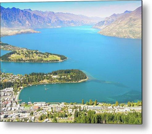Scenics Metal Print featuring the photograph Lake Wakatipu by Steve Oldham
