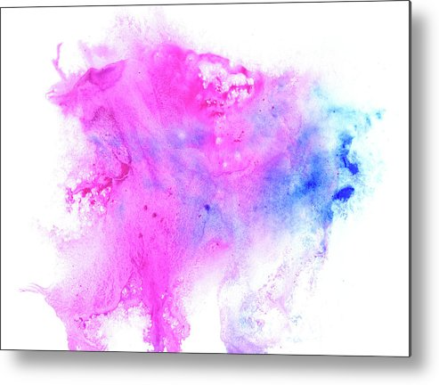 Art Metal Print featuring the digital art Lilac Blot by Pobytov