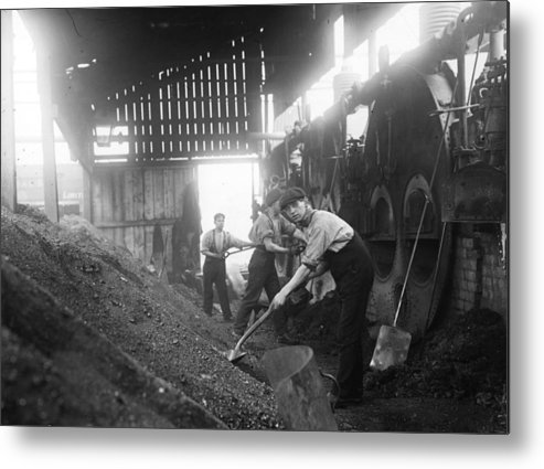 Miner Metal Print featuring the photograph Mine Ventilation by Topical Press Agency