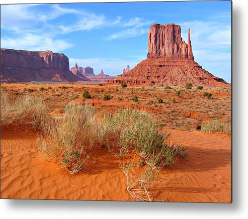 Tranquility Metal Print featuring the photograph Monument Valley Landscape by Sandra Leidholdt