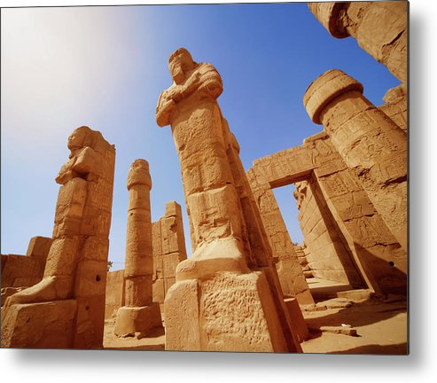 Art Metal Print featuring the photograph Mysterious Ancient Temple Ruins In Egypt by Fds111
