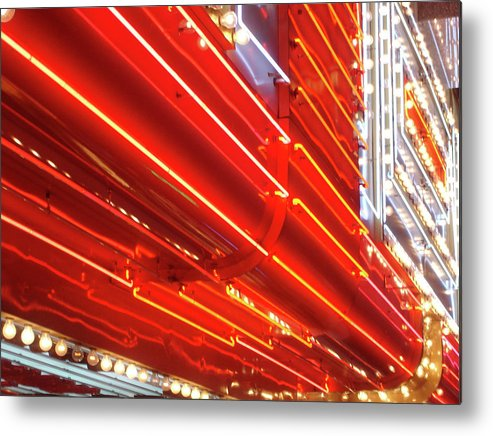 Downtown District Metal Print featuring the photograph Neon Lights Downtown Las Vegas by Jill Tindall