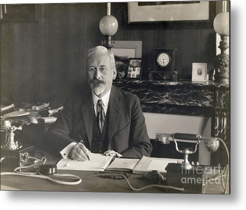 Physicist Metal Print featuring the photograph Physicist Edward Guillaume by Bettmann