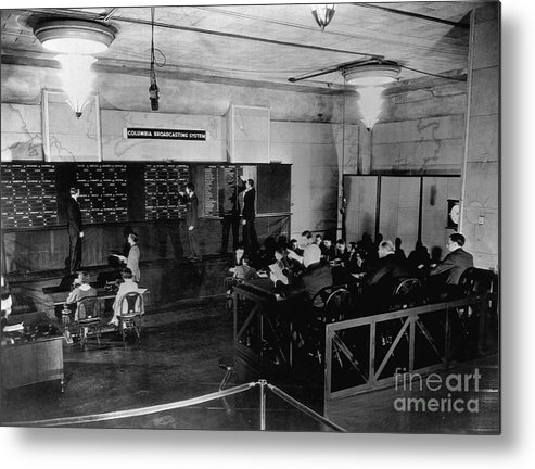 People Metal Print featuring the photograph Radio Station Broadcasting Election by Bettmann