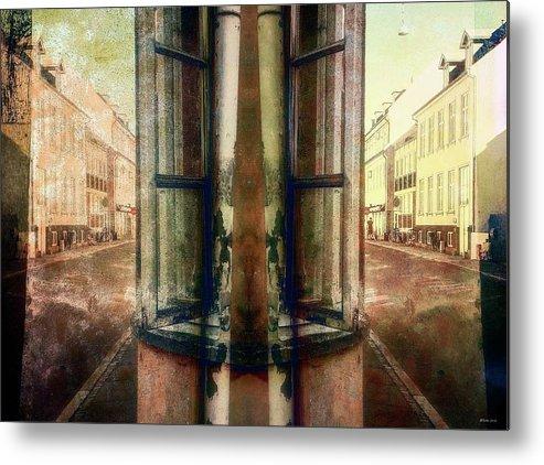 Road Block Metal Print featuring the digital art Road Bloack 18 by Ole Klintebaek
