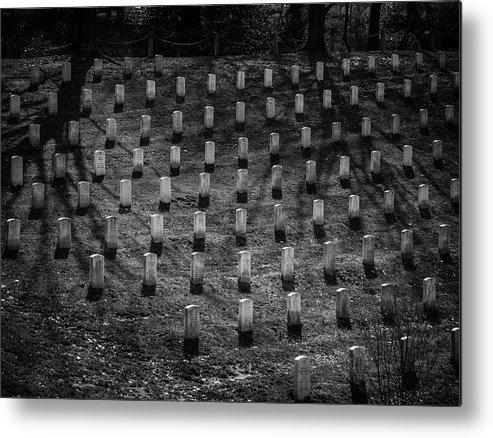 Arlington National Cemetery Metal Print featuring the photograph Shadows at Arlington by Fred DeSousa