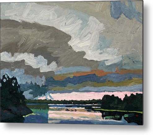 2207 Metal Print featuring the painting Singleton Afternoon Thunderstorm by Phil Chadwick