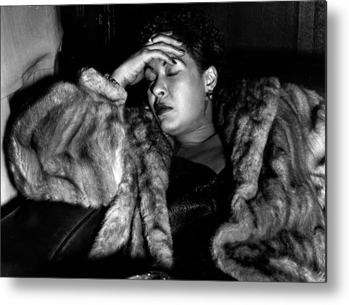 Billie Holiday Metal Print featuring the photograph Sleeping Billie by Charles Hewitt