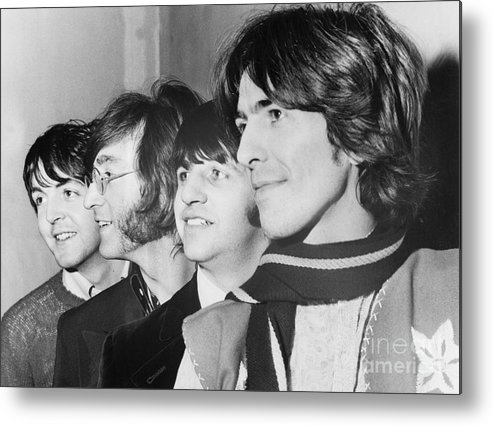 People Metal Print featuring the photograph The Beatles by Bettmann