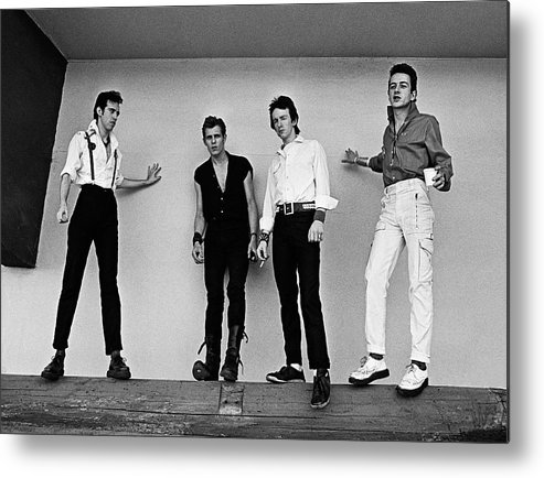 Rock Music Metal Print featuring the photograph The Clash Portrait Session by George Rose