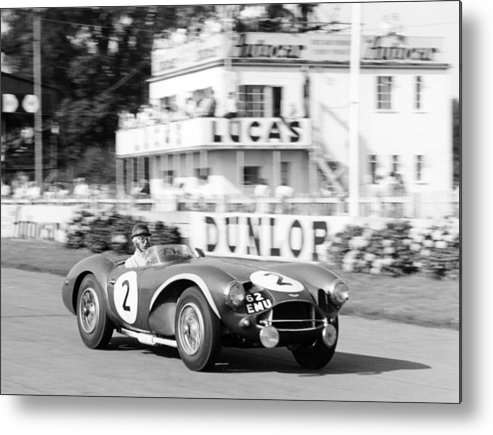 People Metal Print featuring the photograph Tony Brooks In Aston Martin Db3s by Heritage Images