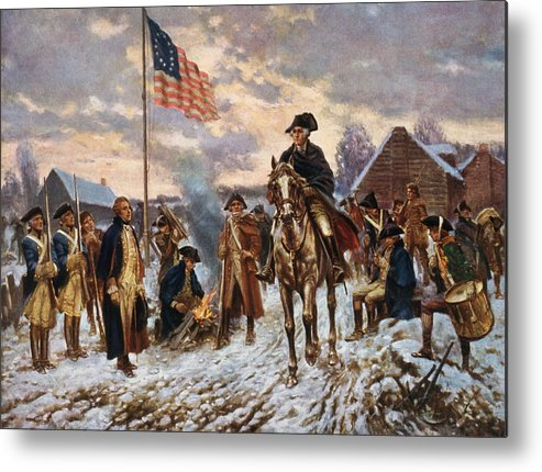 George Washington Metal Print featuring the painting Washington at Valley Forge by War Is Hell Store
