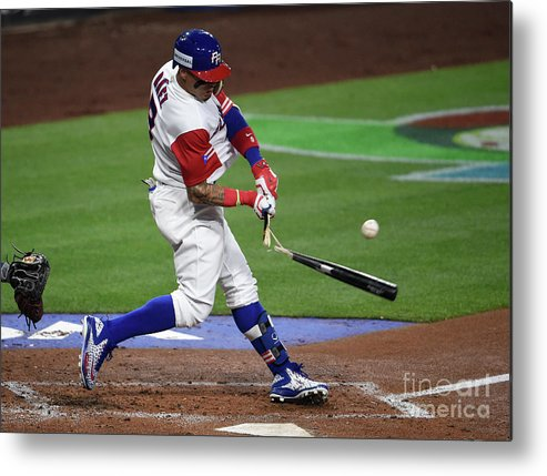 People Metal Print featuring the photograph World Baseball Classic - Pool F - Game by Denis Poroy