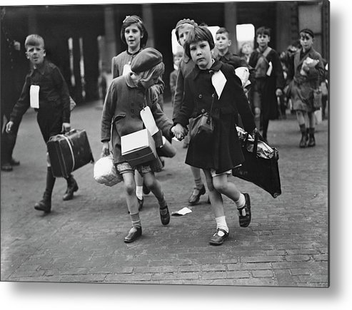 Child Metal Print featuring the photograph World War II, 11th June 1944, London by Popperfoto