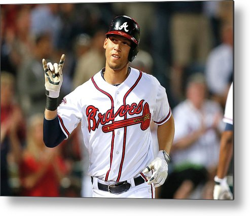 Atlanta Metal Print featuring the photograph Andrelton Simmons by Kevin C. Cox