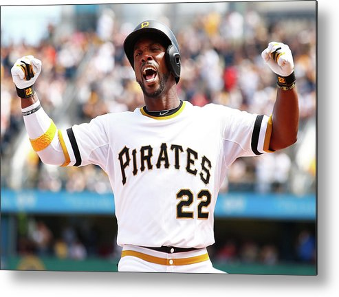 Following Metal Print featuring the photograph Andrew Mccutchen by Jared Wickerham