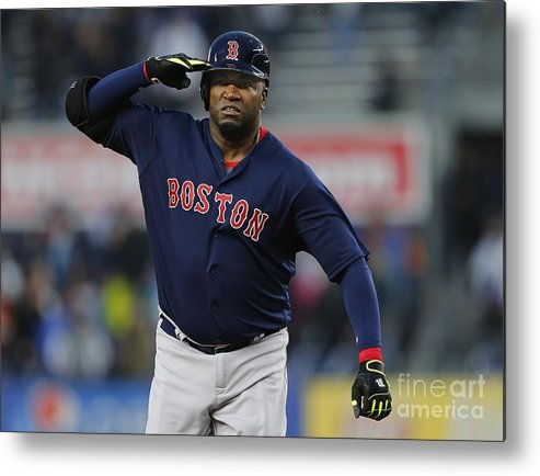 Three Quarter Length Metal Print featuring the photograph David Ortiz by Rich Schultz
