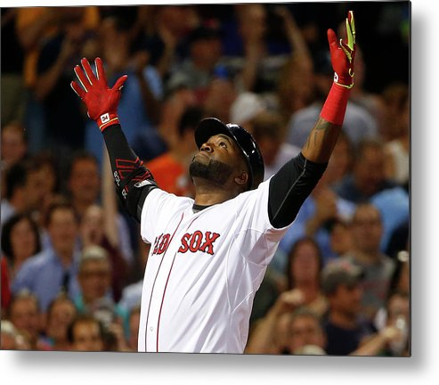 People Metal Print featuring the photograph David Ortiz by Winslow Townson