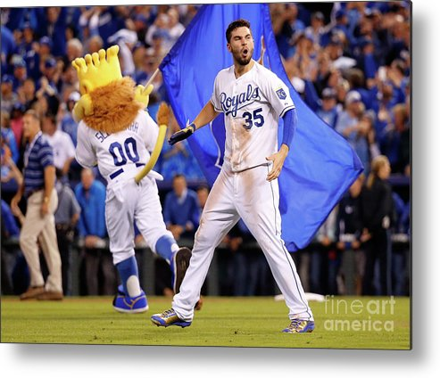 People Metal Print featuring the photograph Eric Hosmer by Rob Carr