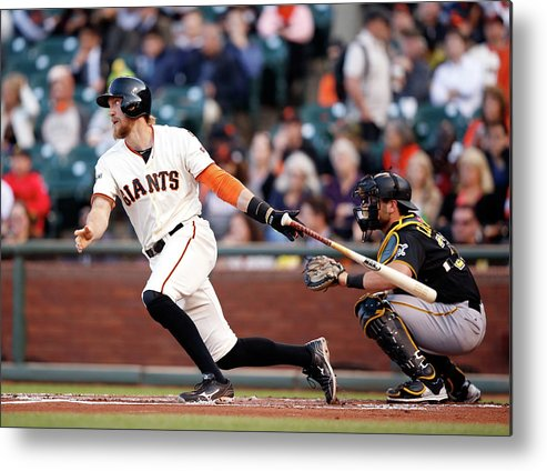 San Francisco Metal Print featuring the photograph Hunter Pence by Ezra Shaw