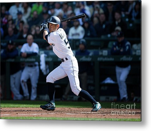 Following Metal Print featuring the photograph Ichiro Suzuki and Cap Anson by Lindsey Wasson