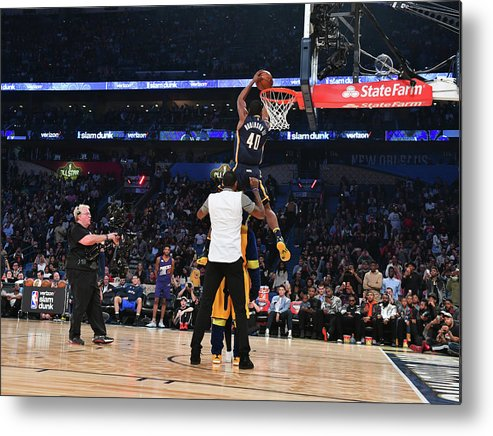 Event Metal Print featuring the photograph Paul George and Glenn Robinson by Jesse D. Garrabrant