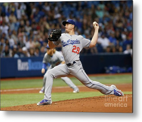 People Metal Print featuring the photograph Scott Kazmir by Brian Blanco