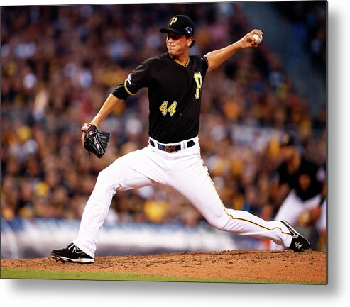 American League Baseball Metal Print featuring the photograph Tony Watson by Justin K. Aller