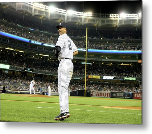 People Metal Print featuring the photograph Derek Jeter by Elsa