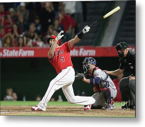 People Metal Print featuring the photograph Albert Pujols by Stephen Dunn
