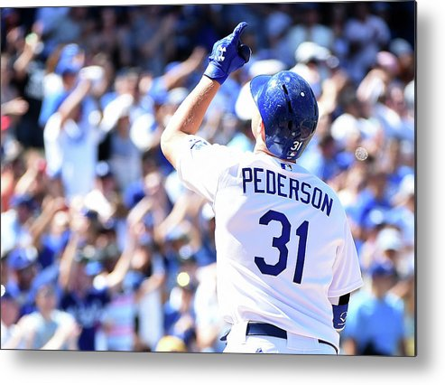 People Metal Print featuring the photograph Joc Pederson by Harry How