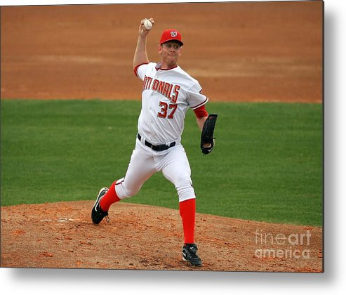 American League Baseball Metal Print featuring the photograph Stephen Strasburg by Doug Benc