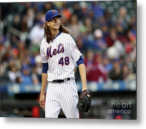 Jacob Degrom Metal Print featuring the photograph Jacob Degrom by Elsa