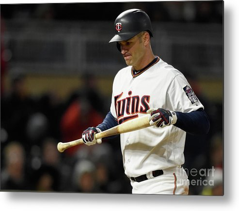 Three Quarter Length Metal Print featuring the photograph Joe Mauer by Hannah Foslien