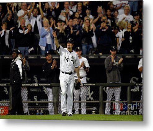 Crowd Metal Print featuring the photograph Paul Konerko by Brian Kersey