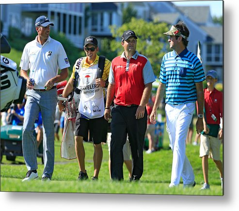 Tpc River Highlands Metal Print featuring the photograph Travelers Championship - Round One by Michael Cohen
