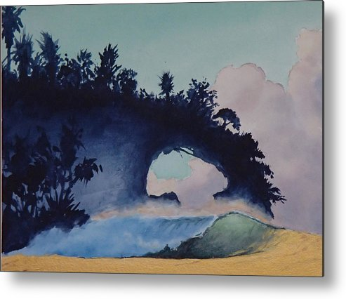 Ocean Metal Print featuring the painting Untitled 4 by Philip Fleischer